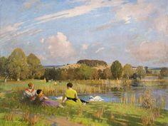 A September Day, 1935 by George Henry (1858-1943)