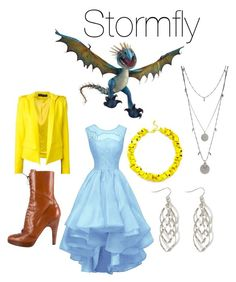 """""""Stormfly"""" by thenightfurygirl ❤ liked on Polyvore featuring Alexandre Vauthier, Prada, Slate & Willow and Vince Camuto"""