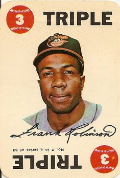 Triple - Frank Robinson for the Baltimore Orioles