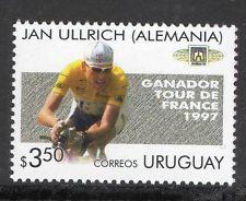 1997 CYCLING TOUR DE FRANCE JAN ULLRICH BIKE SPORT URUGUAY Sc#1695b MNH STAMP