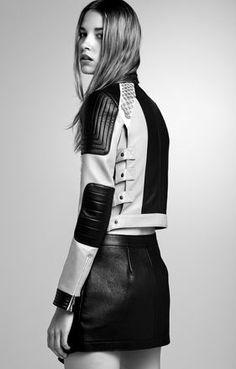 Max Two-Tone Paillette Moto Jacket | BCBG