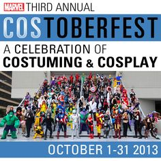 Get all the details on the 3rd annual Marvel's Costoberfest! Be sure to send in those photos of your best Marvel cosplay! http://marvelentertainment.tumblr.com/post/61616607722/cosplayers-costumers-we-here-at-marvel-com-are