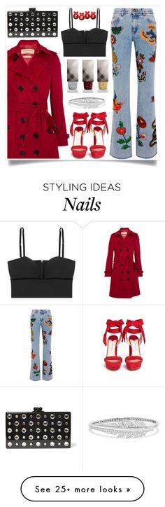 """""""#NewYear"""" by itsybitsy62 on Polyvore featuring Gucci, Burberry, Alexander McQueen, Stephen Webster, Jimmy Choo, Edie Parker and newyear"""