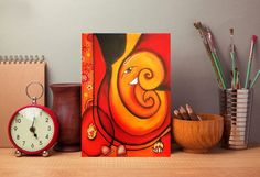 Ganesha painting, Ganpati Art by DivineArtDreams on Etsy Lord Ganesha Paintings, Lord Shiva Painting, Ganesha Art, Ganesha Drawing, Canvas Painting Tutorials, Diy Canvas Art, Simple Acrylic Paintings, Easy Paintings, Family Painting