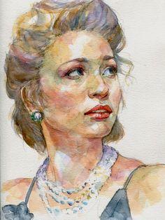 Watercolor Portrait Tutorial, Watercolor Portrait Painting, Watercolor Art Face, Watercolor Sketch, Watercolor Illustration, Portrait Sketches, Portrait Art, Human Painting, Colored Pencil Portrait