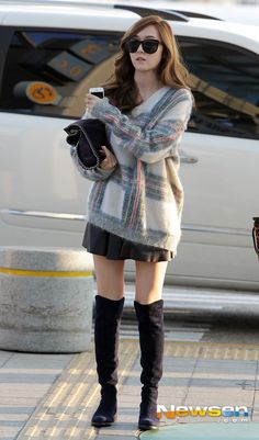 Cute sic style. Snsd.  Jessica. Autumn. Fall. Fasion