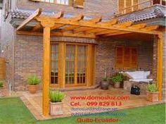 Resultado de imagen para pergolas de madera y policarbonato