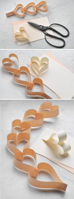 DIY Paper Hearts diy craft crafts craft ideas easy crafts diy ideas diy crafts easy diy home crafts diy decorations craft decor.   Guirlande papier