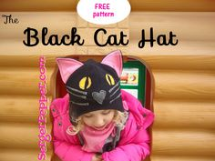 Tutorial and FREE pattern for sewing a Black Cat Hat. You can make a bear, a dog, think an animal and do it! Just start sewing, it's Easy and Fast to do!