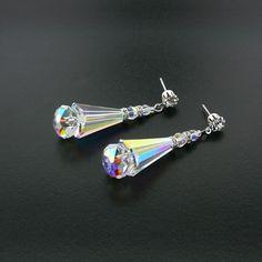 Geometric Crystal AB Earrings | Giavan