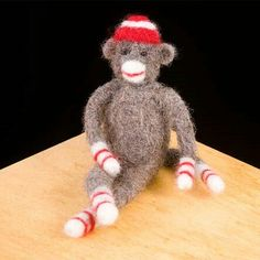Felted sock monkey