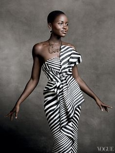 "jss: vogue: "" Working on a Look for Less piece with Lupita, and I can't even pick her three best looks … she is just stunning. This dress, GAH. """