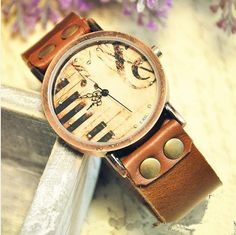 Stan Vintage Watches   vintage mad cow leather, Women Leather Wrist Watch(WAT0024)   Online Store Powered by Storenvy
