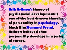 erikson's stages of psychosocial development - Google Search