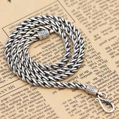 """4.5 mm Men's Sterling Silver Rope Chain 18""""-24"""""""