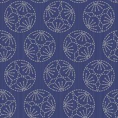 motif de Sashiko. Prune de fleurs. Motif uniforme. - Illustration vectorielle