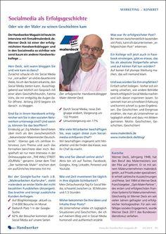 """Interview in der Ausgabe 04/14 von """"Der Handwerker - Magazin Werbung und Marketing im Handwerk"""": Social Media als Erfolgsgeschichte"""