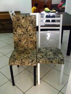 como reformar cadeira de madeira com tecido estampado