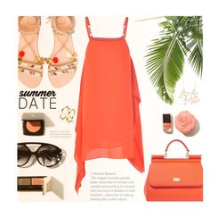 """""""Date at the beach!"""" by wannanna ❤ liked on Polyvore featuring Elina Linardaki, beach and summerdate"""