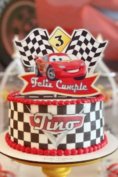 Check out this awesome Disney Cars-themed birthday party! The cake is so much fun! See more party ideas and share yours at CatchMyParty.com Disney Cars Party, Disney Cars Birthday, Truck Cakes, Boy Birthday Parties, Food Ideas, Birthdays, Party Ideas, Trucks, Awesome