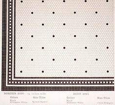 Early 1900s mosaic floor tile pattern from American Encaustic tile ...