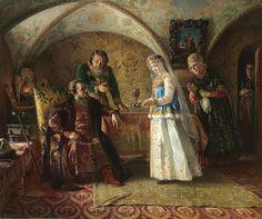 Сцена из боярского быта XVII в.