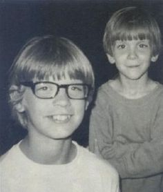 Young Jeff Dahmer, with his younger brother David in the background...David has since changed his surname.