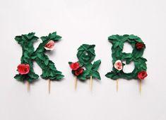 DIY Paper Flower Monogram Cake Topper! #diy #cake #topper #wedding #monogram #letters #paper