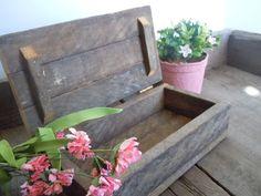 Wood Box Reclaimed Tobacco Lath Rustic Farmhouse by AMarigoldLife, $22.00