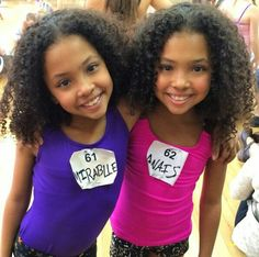 Twin girls, they're so beautiful