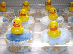 Boy Ducky Washcloth Cupcakes