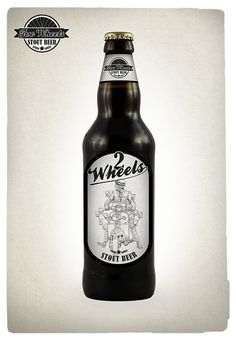 Two Wheels Beer packaging project. by michele patruno, via Behance