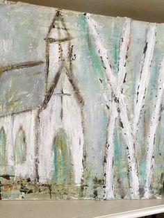 Birch trees and Grace by KristiHallArt on Etsy