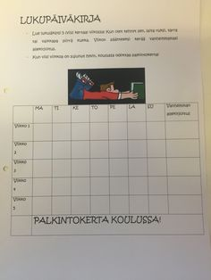 Lukupäiväkirja Special Needs Teaching, Learn To Read, Activities, Education, Reading, School, The Reader, Training, Learning