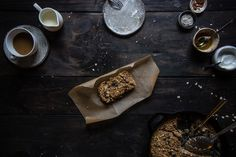 oatmeal raisin cookie baked oatmeal | two red bowls