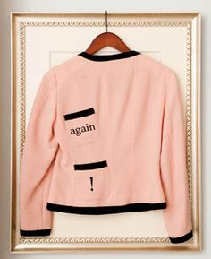 A pink jacket with a sense of humor...