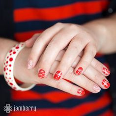 Heart Health Awareness #Jamberry nail wraps Awesome Nails  www.facebook.com/sandyburkhartjamberrynailwraps/app_208195102528120  sandyburkhart1.jamberrynails.net/  www.facebook.com/sandyburkhartjamberrynailwraps