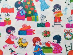 Vintage Christmas Gift Wrapping Paper  by by TheGOOSEandTheHOUND, $6.00