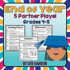 End of Year Partner Plays for 4th and 5th graders- 5 scripts to improve reading fluency! Great way to keep kids engaged during those last few weeks of school!