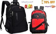 New Swiss Tourist Unisex BagTravel Hiking Backpack 15.6 Laptop Bag RED Nylon