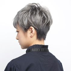 Short Grey Hair, Girl Short Hair, Short Hair Styles, Japanese Short Hair, Japanese Hairstyle, Love Hair, My Hair, Hair Reference, Pixie Haircut