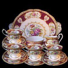 royal albert lady hamilton15 pc tea set