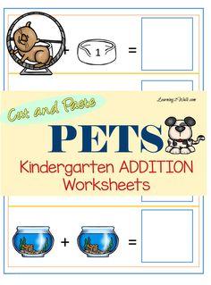 math worksheet : free printable pet pack  fun learning worksheets for toddler  : Homeschool Kindergarten Worksheets