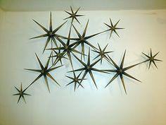 C Jere Starbursts Brass Sculpture Mid Century Modern Wall Art Brutalist Signed | eBay