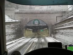 Tunnel frejus border italy france.