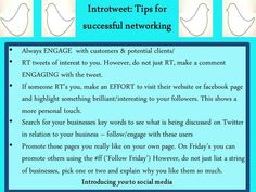 Tip 2 - Successful networking