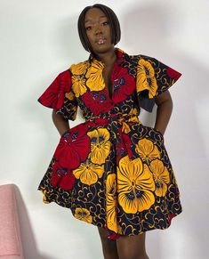 Latest African Fashion Dresses, Ankara Fashion, African Print Fashion, African Prints, Fashion Outfits, Ankara Short Gown, Ankara Skirt, Short Gowns, African Attire