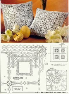 Crochet Pillow Patterns Part 12 - Beautiful Crochet Patterns and Knitting Patterns Crochet Cushion Cover, Crochet Pillow Pattern, Crochet Bedspread, Crochet Motifs, Crochet Cushions, Crochet Diagram, Crochet Chart, Crochet Squares, Crochet Doilies