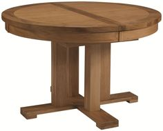 Mahogany Round Extendable Dining Table