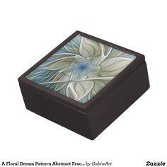 A Floral Dream Pattern Abstract Fractal Art Keepsake Box